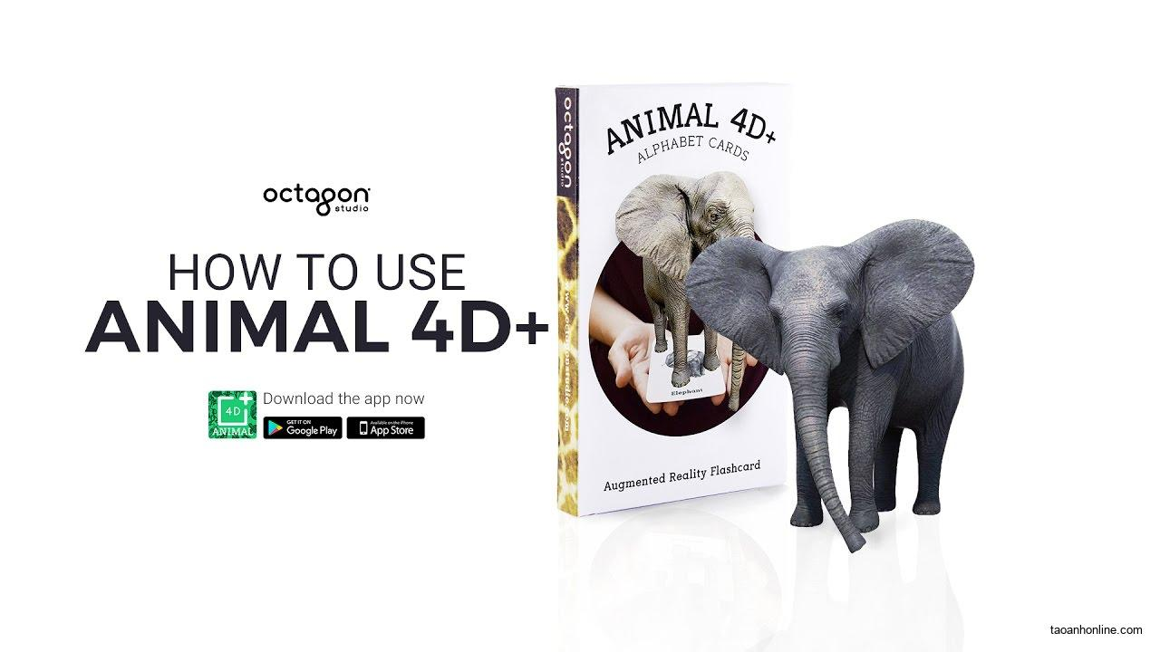 animal 4d cards free